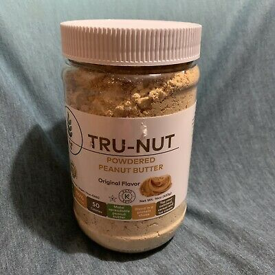 Tru-Nut Powdered Peanut Butter Original Flavor 16 Ounce New Sealed 04/20 Vegan