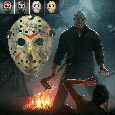 Jason Voorhees Friday The 13th Halloween Scary Mask Cosplay Horror Prop Party UK
