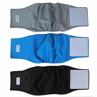 Teamoy Reusable Wrap Diapers for Male Dogs Washable Puppy Belly Band Pack of ...