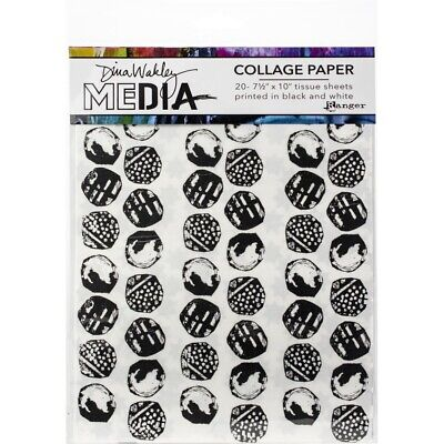 Dina Wakley Media Collage Paper 20 Tissue Sheets