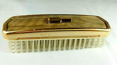 Monogrammed Gold Plated Hair Or Clothes Brush