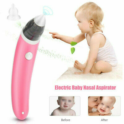 Baby Nasal Aspirator Electric Safe Hygienic Nose Cleaner Snot Sucker Suction UK