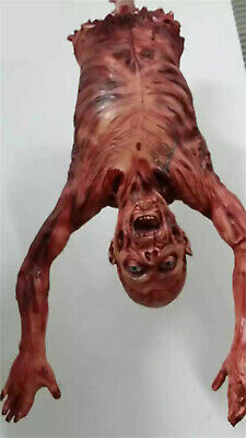 Halloween Horror Skeleton Hanging Corpse Zombie Half Body Prop Haunted House US