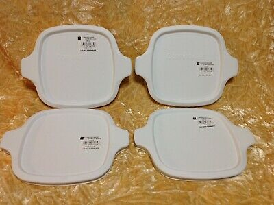 Corning Ware Plastic Lid For Petite Pan Dish # P 43 B And P 41 B ~ Nwt  Lot Of 4