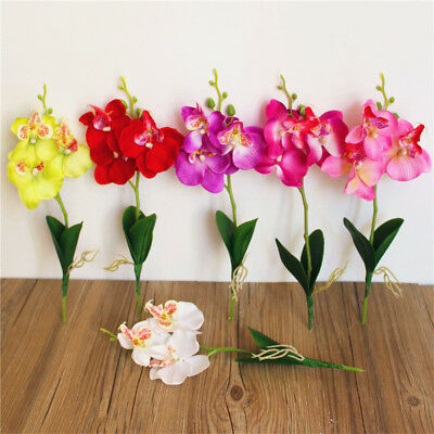 Butterfly Orchid Artificial Silk Flower Wedding Decor Birthday Party Decor M&E