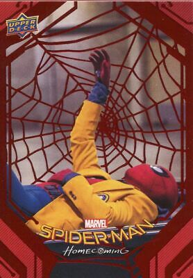 Spiderman Homecoming Red Foil [199] Base Card #46 Passing the Time