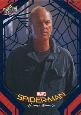 Spiderman Homecoming Blue Foil [99] Base Card #2 Voided Contracts