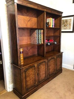A Traditional Burr Elm - Burr Walnut  Library Bookcase for Home & Office