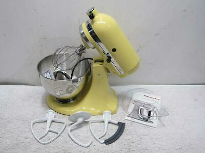 KitchenAid 4.5qt. 300W Tilt Head Stand Mixer with Flex Edge, Majestic Yellow