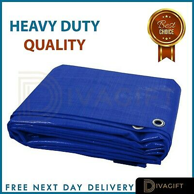 8 Sizes Of Heavy Duty Tarpaulin Waterproof Cover Tarp Ground Camping Sheet Tent