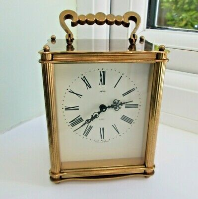 Smith's Brass Mechanical Carriage Clock, 8 - Day With Floating Balance