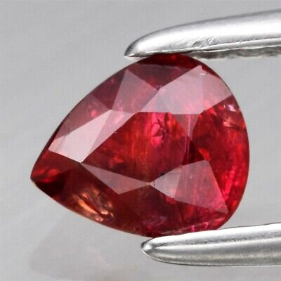 0.46ct 5x4.2mm Pear Natural Unheated Untreated Red Ruby, Mozambique