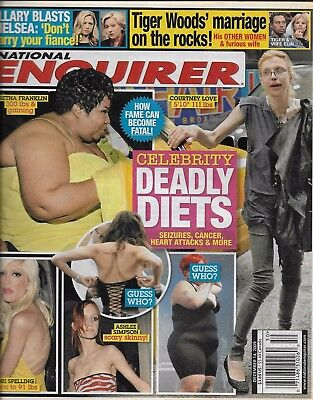 National Enquirer Tabloid Magazine Celebrity Diets Tiger Woods Hillary Clinton