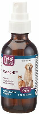 PetAlive Respo-K Oral Spray - Natural Homeopathic Formula for Respiratory and