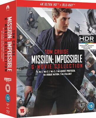 Tom Cruise Mission Impossible 6-Film Collection 4K UHD + Blu-ray Box Region Free