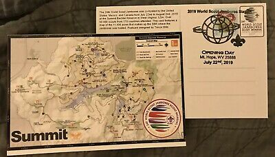 2019 24th World scout Jamboree Map Card Postcard Event Cover Special Postmark -