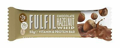 15 x 55g FULFIL VITAMIN AND PROTEIN BAR CHOCOLATE HAZLENUT WHIP FITNESS 04/20