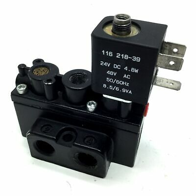 Aro A212SS-024-D Solenoid Air Valve 2-Position 5-Way 1/4 NPT 24VDC *No Plug/Nut
