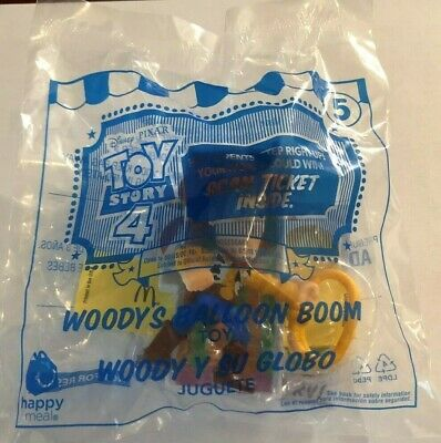 2019 McDonalds TOY STORY 4 Happy Meal Toy WOODY WOODY'S BALLOON BOOM #5