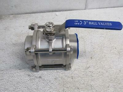 1000 Wog 3 in Stainless 3 Piece Ball Valve 304