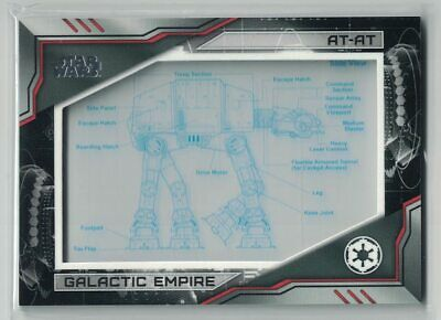 2019 Star Wars Skywalker Saga Commemorative Blueprint Relic #Bpat At-At #160/250