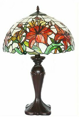 "Large 16"" Blooming lily Style Tiffany Table Lamp"