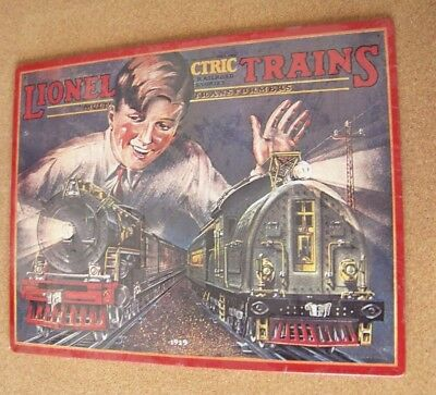 "1929 Lionel Trains Catalog Cover tin sign 11"" x 14"""