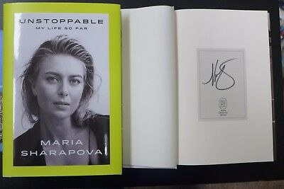 """Maria Sharapova ✎Autographed✎ """"Unstoppable My Life So Far""""  New Signed Book"""