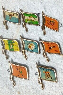 8 X Melbourne 1956 Olympic Games Badges