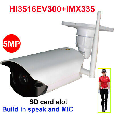 CamHi IMX335 5MP Humanoid Recognition Wireless IP Camera Bullet SD Card Speaker
