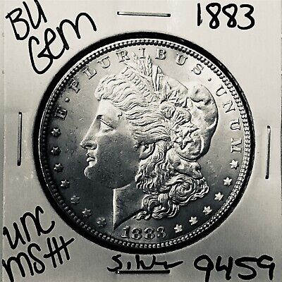 1883 Bu Gem Morgan Silver Dollar Unc Ms++ Genuine U.s. Mint Rare Coin 9459