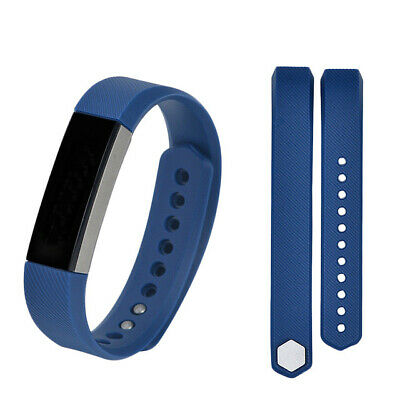 Silicone Replacement Wristband Watch Band Strap For Fitbit Alta / HR Navy Blue