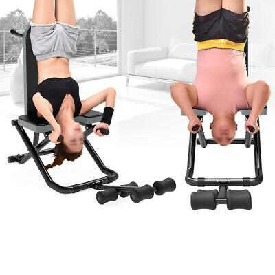 Heavy Duty Inversion Table Folding For Back Pain Backrest Fitness Yoga Exercise
