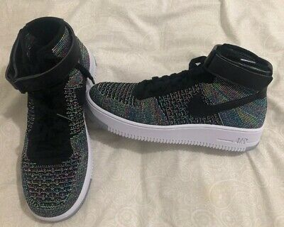 NIKE AIR FORCE 1 ULTRA FLYKNIT MID MULTICOLOR AF1 US 7 7,5