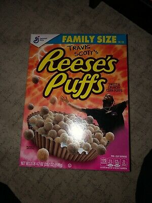 Travis Scott x Reese's Puffs cereal SOLD OUT - Look Mom I Can Fly (Family Size)