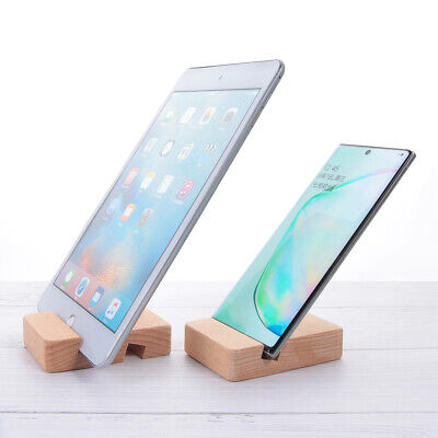 Foldable Phone Stand Holder Tablet Folding Stand Portable Bracket Wooden