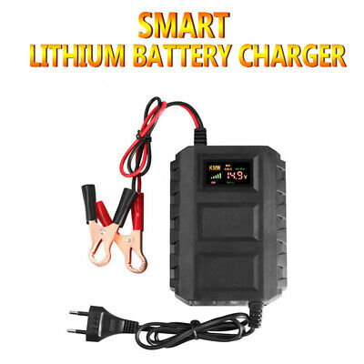 Auto Car Battery Lead Acid Charger Automobile Motorcycle 12V 20A Intelligent LCD