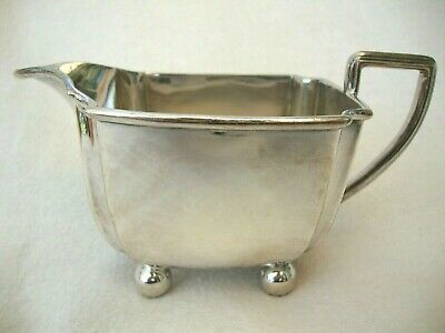 Antique Good Quality Viceroy Silver Plate Milk Jug Standing On Ball Feet 2527