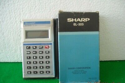 Rara Calcolatrice A Display Lcd Sharp El-323 Anni '70