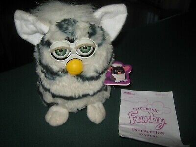 Original Furby, Tiger 1998, Black White, With Swing Tag & Instruction Manual!!