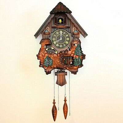 20 Inch Wooden Cuckoo Coo Living Room Bedroom Rocking Wall Clock ''