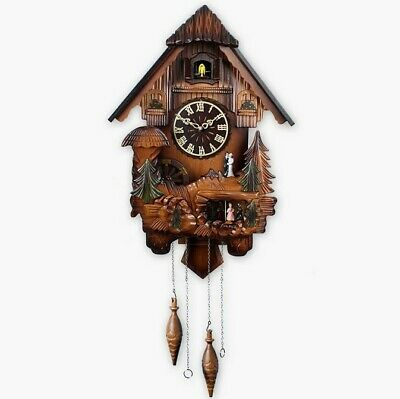 20 Inch Wooden Cuckoo Coo Living Room Bedroom Rocking Wall Clock
