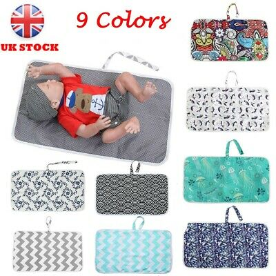 UK Portable Newborn Baby Foldable Washable Travel Nappy Diaper Play Changing Mat