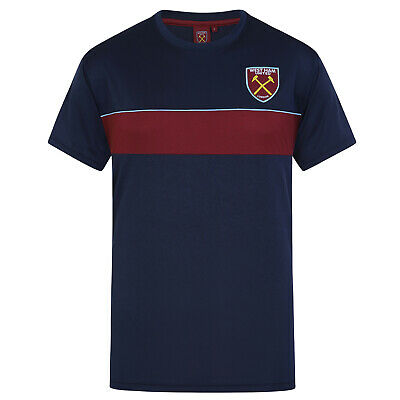 West Ham United FC Official Football Gift Mens Poly Training Kit T-Shirt