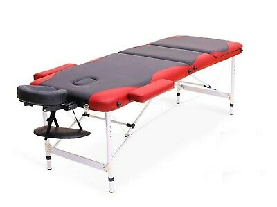 3 section Lightweight Portable Folding Massage Table Beauty Salon Therapy Bed