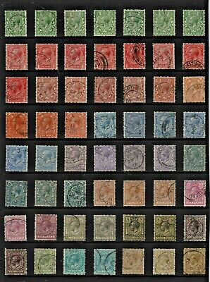 GB 1912-24 George V ROYAL CYPHER Definitive STAMP Collection REF:QP384a