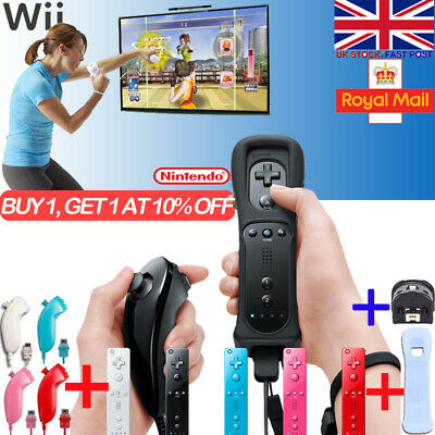 x2 Remote Controller And Nunchuck For Nintendo Wii & Wii U Set SILICONE STRAP ——