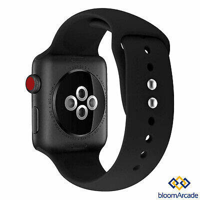 Apple Watch Soft SILICONE Sport Strap Band iWatch Series 2 3 4 38/40/42/44mm UK