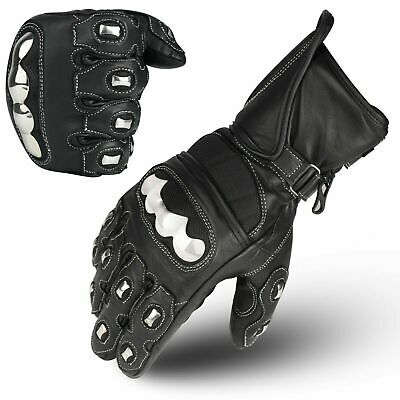 WFX Leather Motorbike Gloves Carbon Fiber Knuckle All Weather Motorcycle gloves