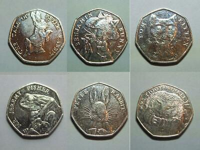 Beatrix Potter 50p Coins ~ 2016 & 2017 ~ Uncirculated & Circulated ~ Post Free
